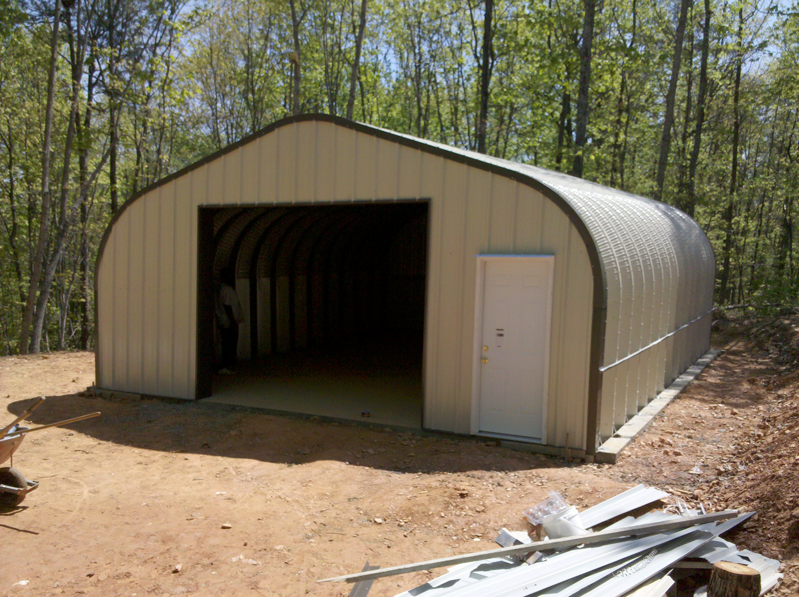 Denlo quonset hut storage shed for Garage building kits canada